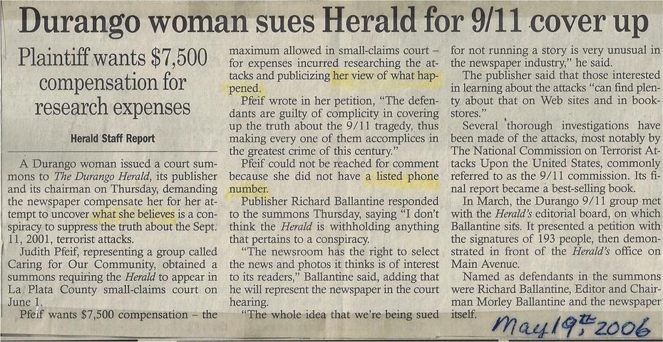 1st Durango Herald Article