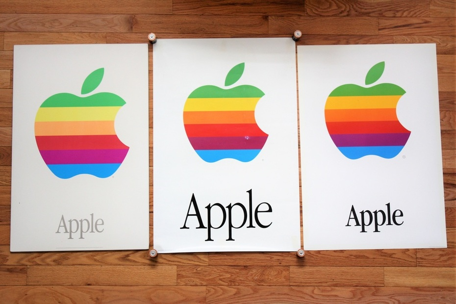 Apple logo posters