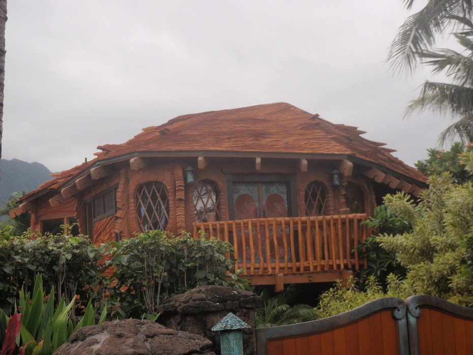 The Odd Wooden House in Waimanalo