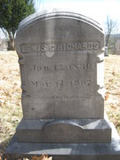 Louis G Richards Headstone Lemrick, Me.
