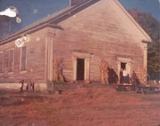Middle Intervale Meetinghouse before restoration