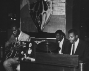 Grant Green, J.C. Moses and  Larry Young