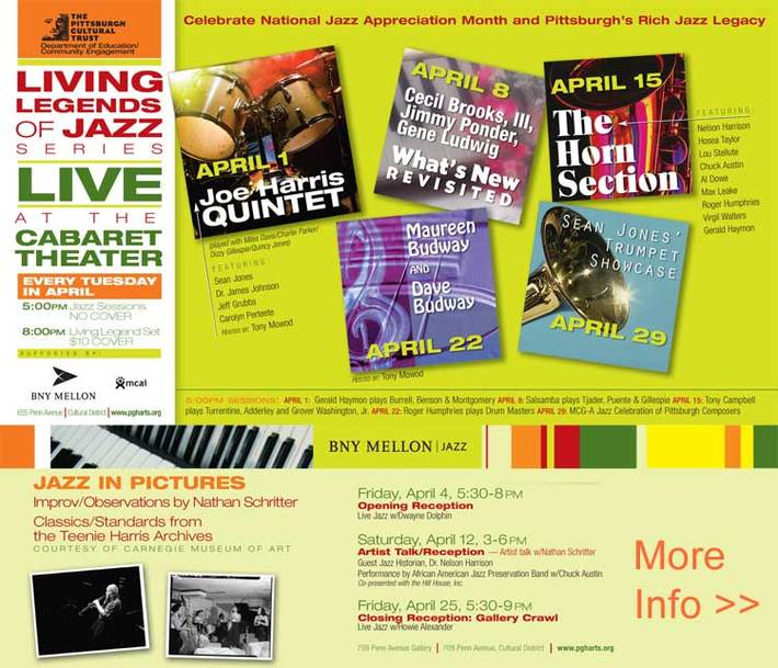 APRIL IS JAZZ MONTH AT THE CABARET THEATRE