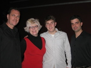 at a gig with Nancy Kelly, Tom Bronzetti, and Dino Losito