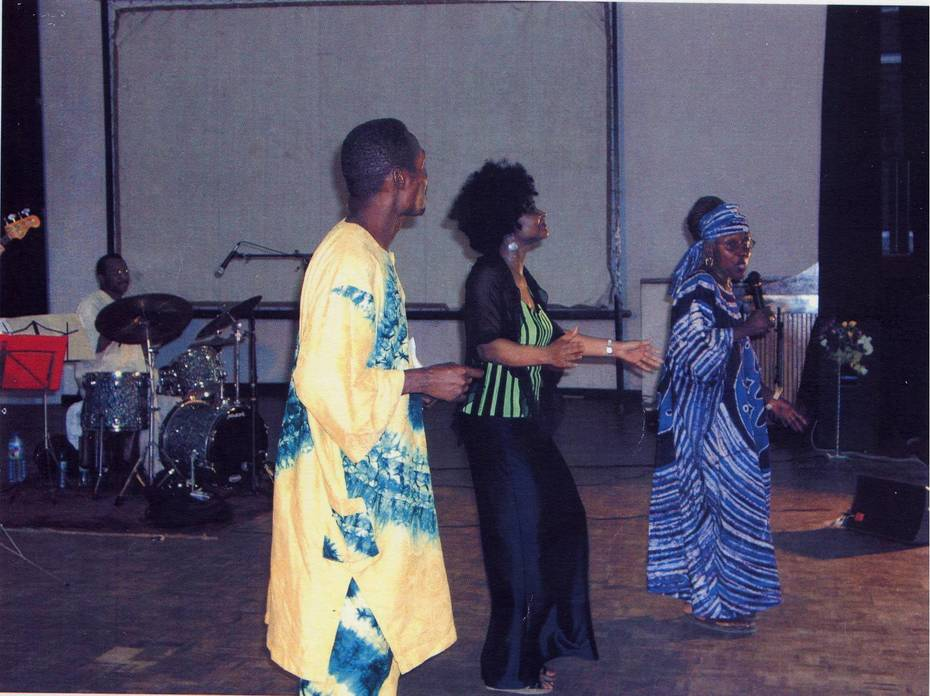 On Stage in Ghana