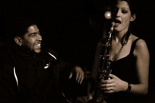 Chelsea Baratz & Corey Wilkes at the Zinc Bar in NYC