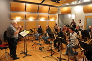 Joe Campus directs recording session at Audible Images