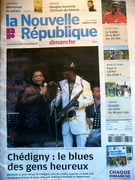 Roby and the great Angela Brown at Chedigny Blues Fest.