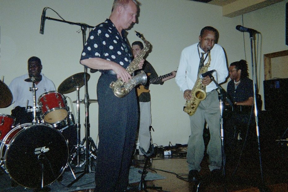 tony campbell with tim eyermann and company at cj's