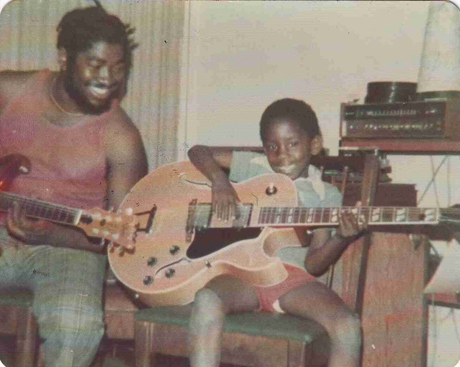 Joe and little Emmett 1975