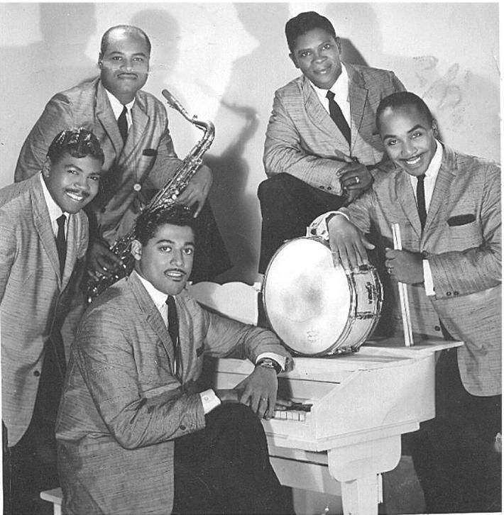 Clockwise-Harold Corbin, Tommy Bryant, unknown Sax, Billy Scott, Butch Ballard