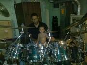My grandson the next generation of drummers...