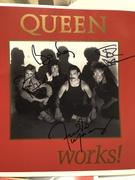 Queen autograph The Works Program 1984