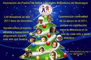 tarjeta de navidad  niños diabeticos