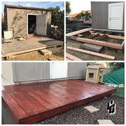 CG Built Deck and Dog House