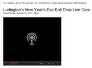 Ludington Daily News Ball Drop Cam Drops the Ball