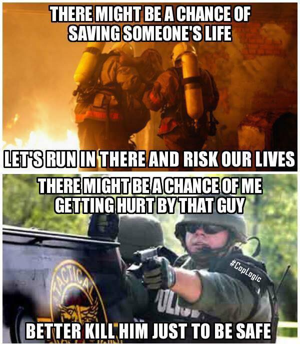 The Difference Between Firefighters and Police