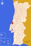Mapa de Portugal - São Martinho do Porto