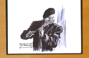 Old man with flute