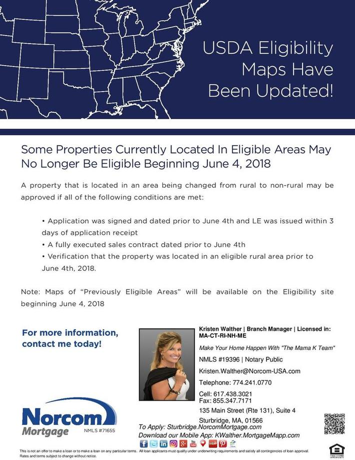 USDA Eligibility Maps Have Been Updated