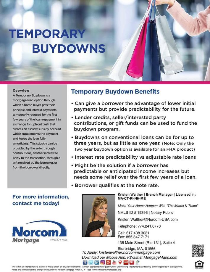 Temporary Buydown Benefits