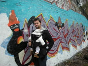 Penguin grafitti on Parkland walk