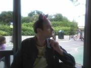My actor friend Ben in Finsbury Park