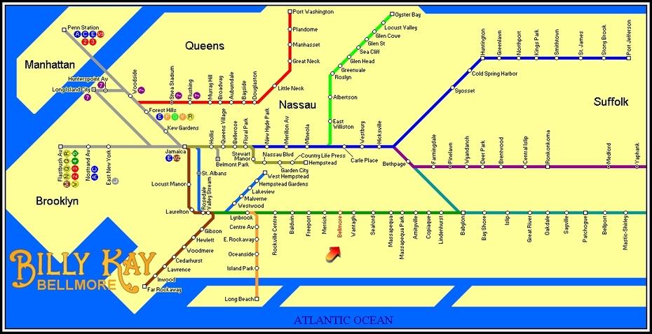 #BellmoreSpotting - Bellmore Train Map