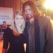 Sara Ann with Billy Ray Cyrus