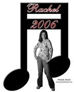 Rachel & a double sixteenth note banner