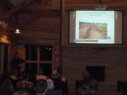 Vincent Messerly explaining the Granger Ditch restoration project
