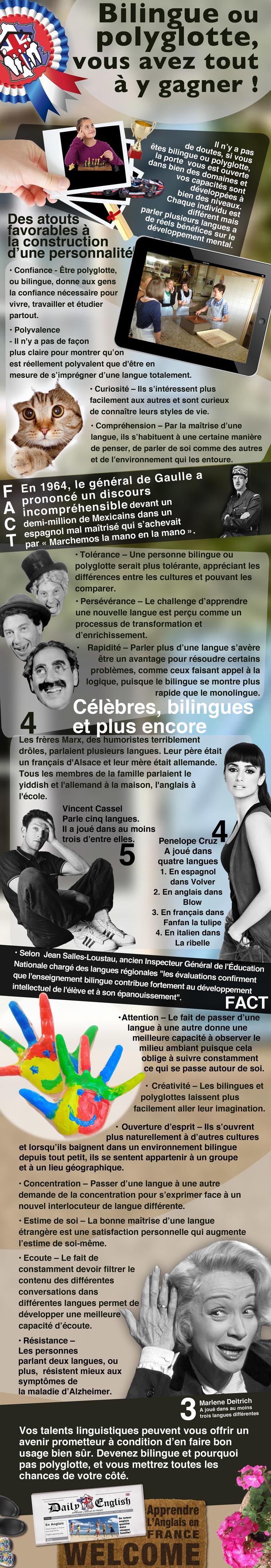 Bilingue ou polyglotte, quelle liberté de s'exprimer !