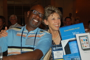 Grant Walker, Wings Financial & Kim Showalter, Winner of Door prize donated by Wings financial