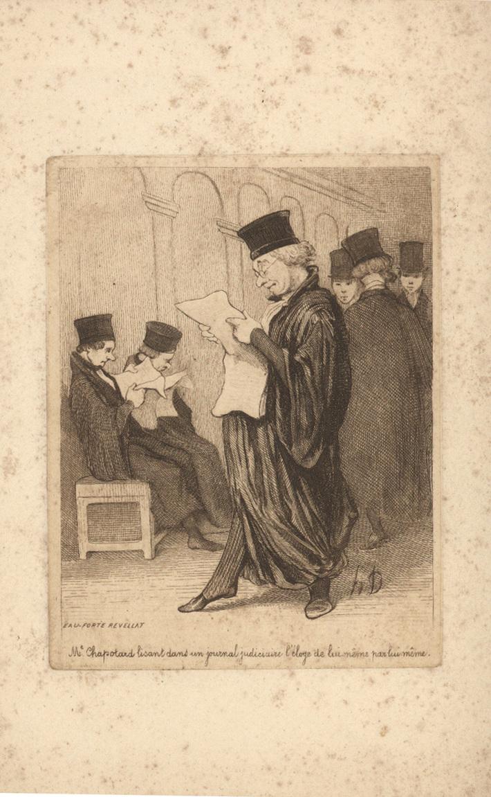 Les Gens de Justice Daumier Le Charivari 3/26/1846