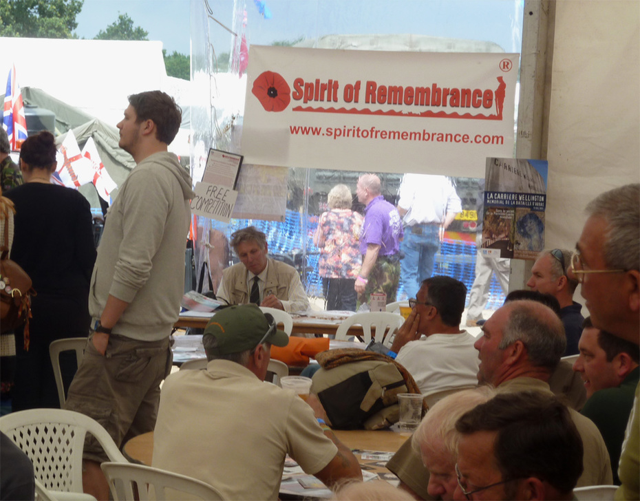 A very busy day at the Spirit of Remembrance area