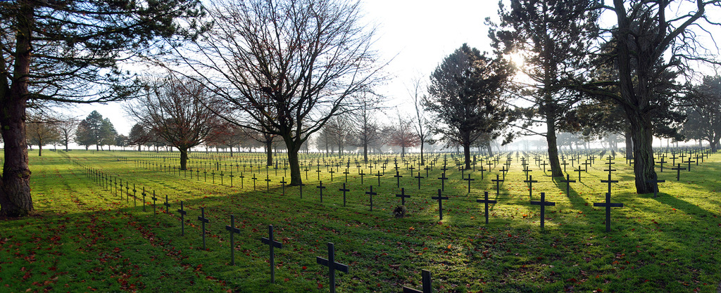 Neuville St Vaast German Cemetery Panoramic View: December 2012