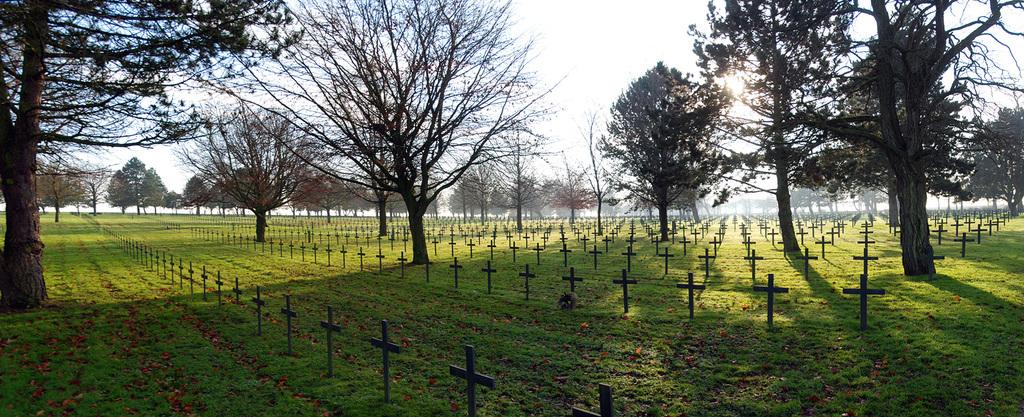 Neuville St Vaast German Cemetery Panoramic View: December 2012