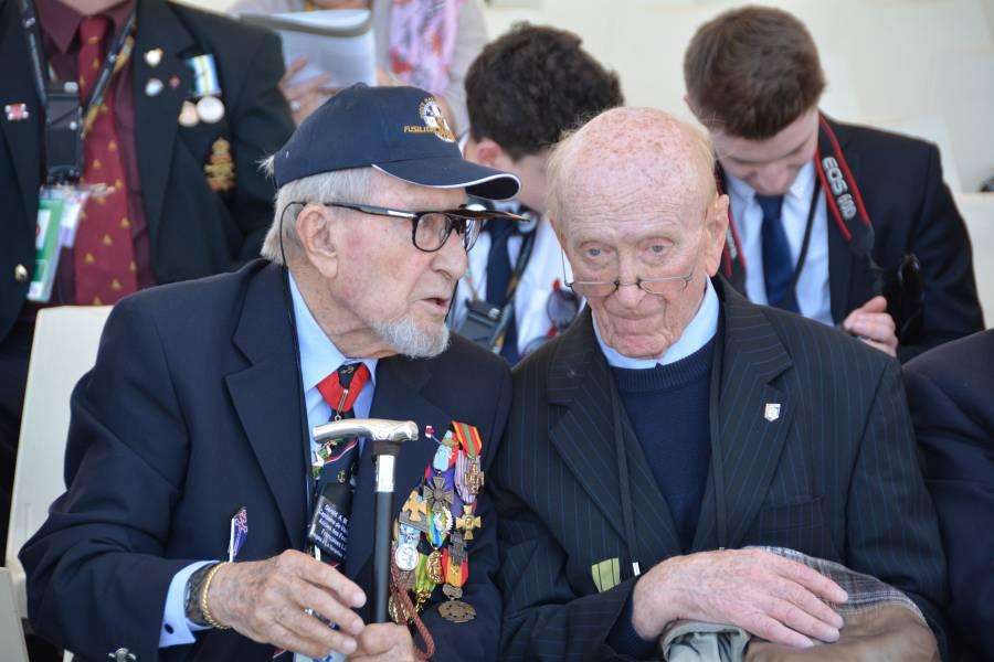 Veterans chatting