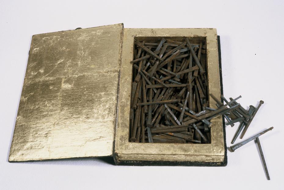 Book of Nails, acrylic mixed media