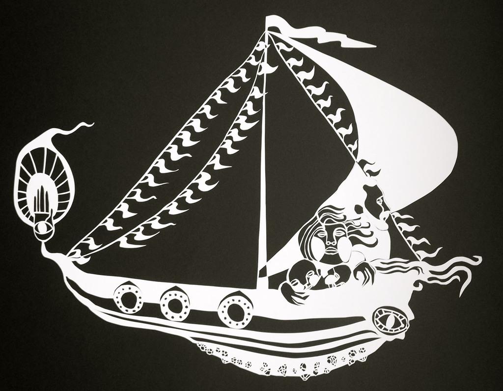 """Voyage of the Faithful, 24""""x18"""", 2012"""
