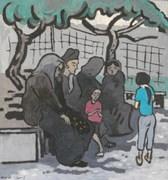 türkinnen in einem park im 15. bezirk