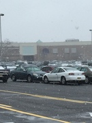 First Snow Fall in Toms River Doesn't Stop People from Shopping