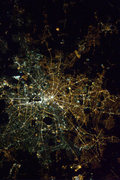 "Hadfield's shot of ""divided"" Berlin"