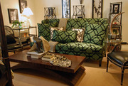 Boutique sofa - green silk