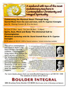 Flyer for Spirit, Soul, Mind and Body: Universal Call to Contemplation
