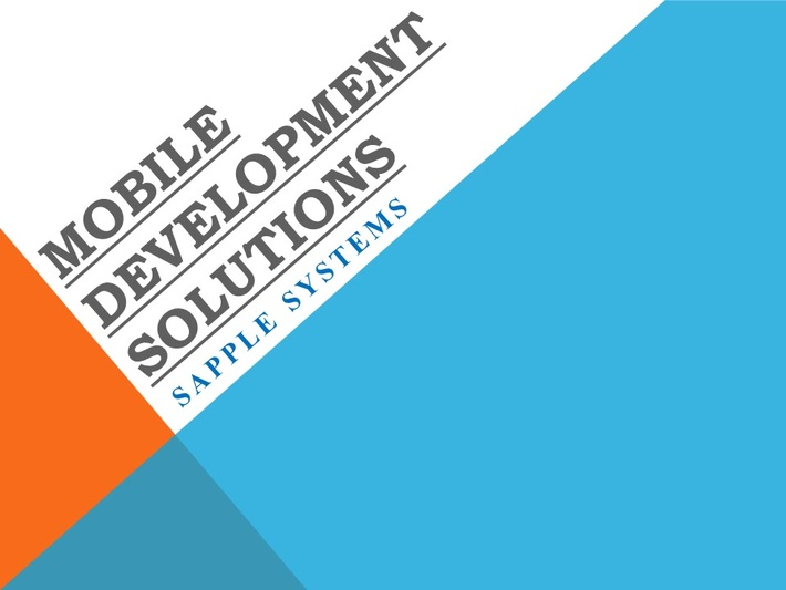 Mobile Development Solutions – Sapple Systems