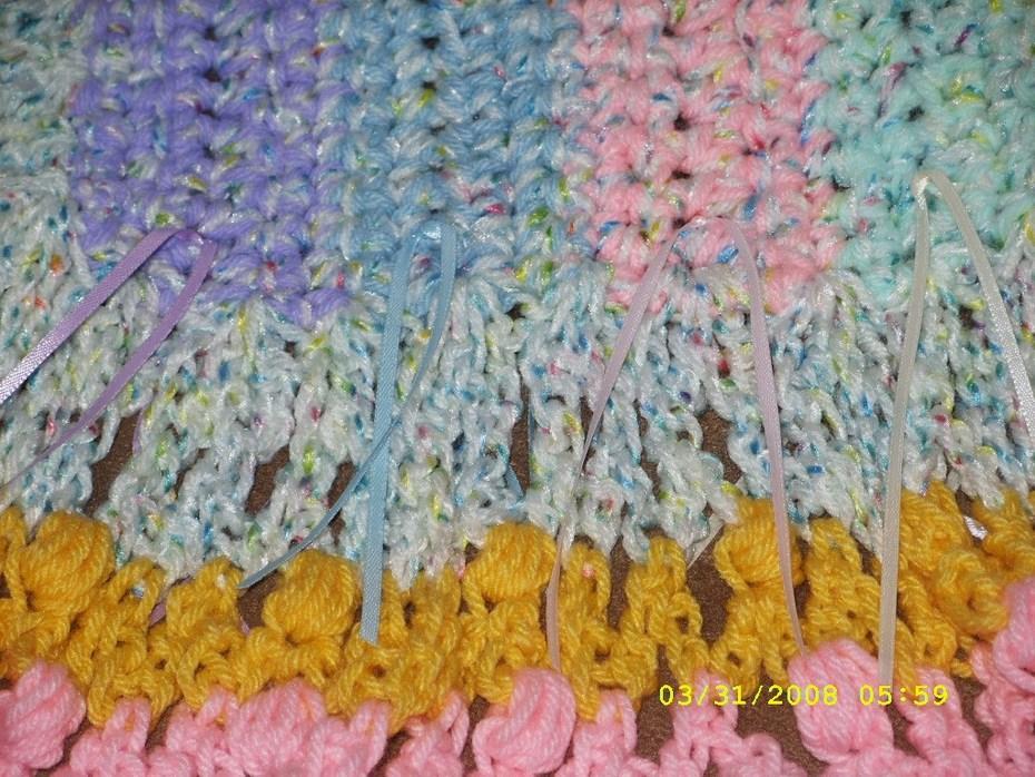 Crib Blanket Lace Detail