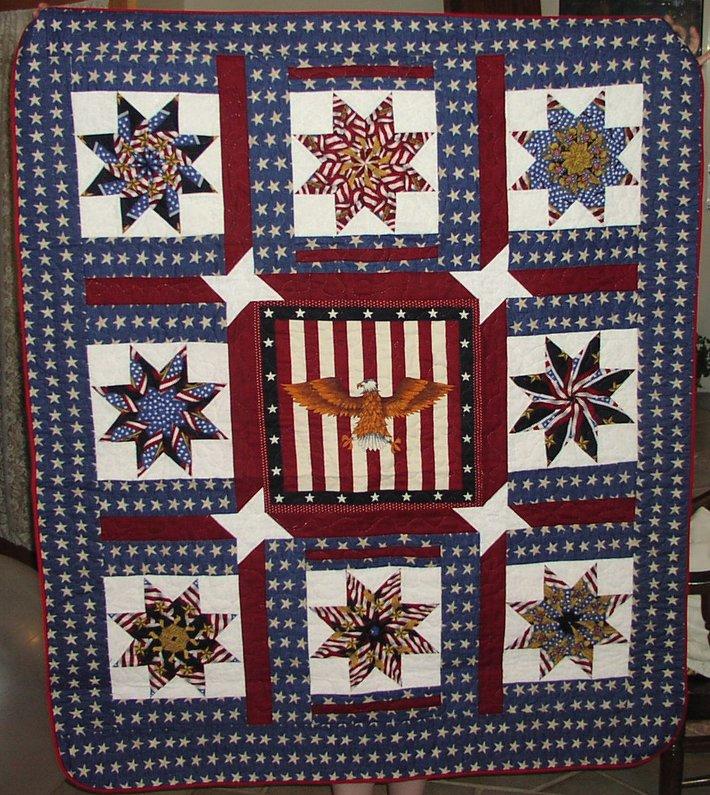 Patriotic Stars Quilt