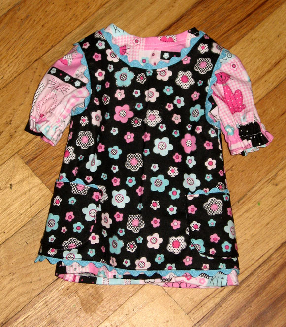 Doll clothes—dress and apron