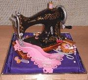 Sewing Machine Birthday Cake